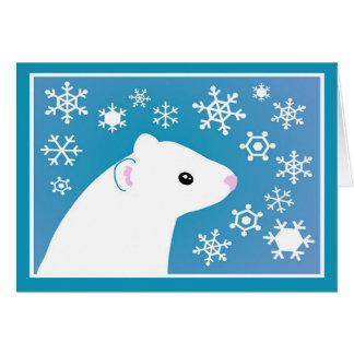 冬のフェレットの挨拶 カード