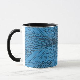 冬のブルースターのフラクタル マグカップ