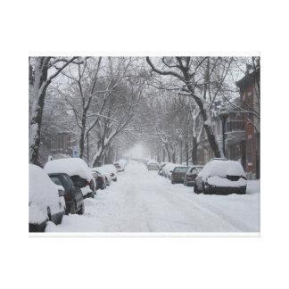 冬のプラトーモントリオール キャンバスプリント