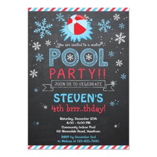 冬のプールの招待状/冬のプールの招待 カード