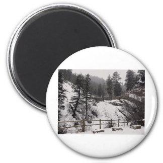冬のヘレン・ハントの滝 マグネット