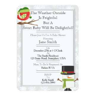 冬のベビーシャワー カード
