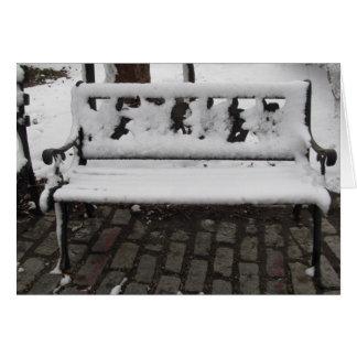 冬のベンチ カード