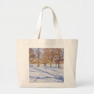 冬のリッチモンド公園 ラージトートバッグ