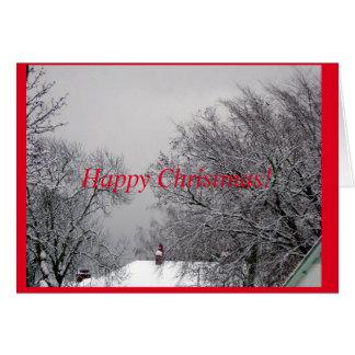 冬の不思議の国のクリスマスカード グリーティングカード