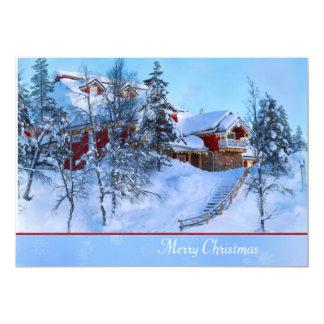 冬の不思議の国のクリスマスカード 12.7 X 17.8 インビテーションカード
