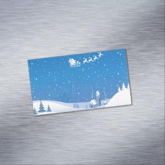 冬の不思議の国の磁気名刺 マグネット名刺 (25枚パック)