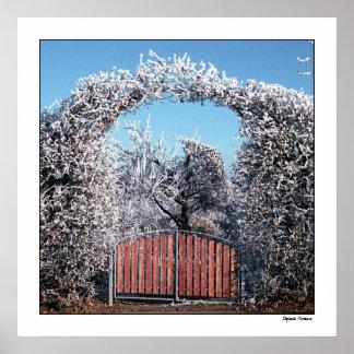 冬の不思議の国への出入口 ポスター