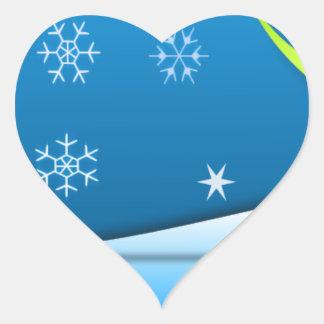 冬の不思議の国 ハートシール