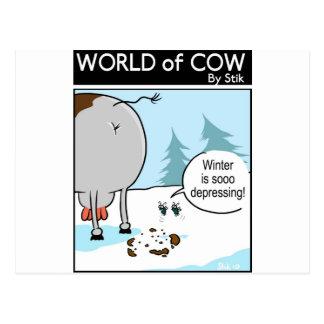 冬の不況 ポストカード