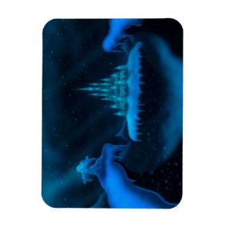 冬の世界の休日のファンタジーの写真の磁石 マグネット