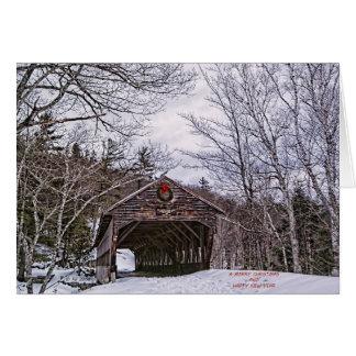 冬の交差のクリスマスカード カード