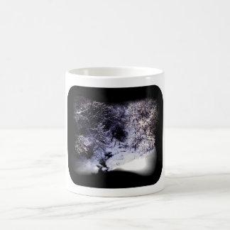 冬の入り江 コーヒーマグカップ