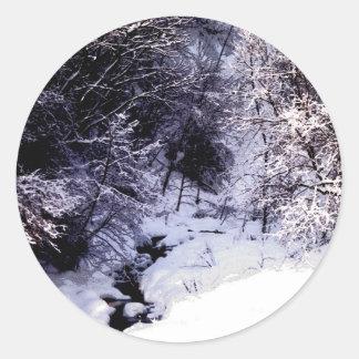 冬の入り江 ラウンドシール