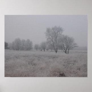 冬の分野のTress ポスター