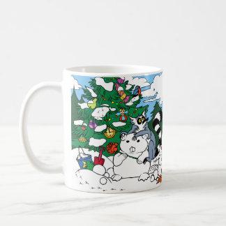 冬の単語の発見のマグ コーヒーマグカップ