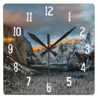冬の印 スクエア壁時計