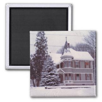 冬の古い家 マグネット