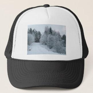 冬の喜びの雪道エストニア キャップ