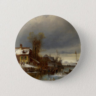 冬の喜び- Wintervergnugen 5.7cm 丸型バッジ
