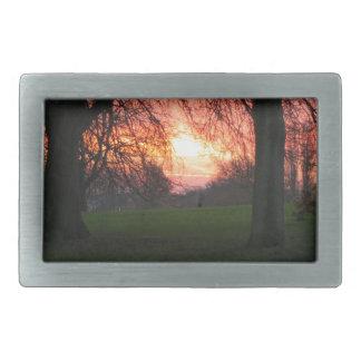 冬の夜明け2 長方形ベルトバックル