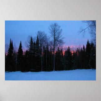 冬の夜明け ポスター