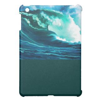 冬の太平洋の波の油絵 iPad MINIカバー