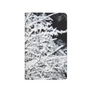 冬の季節のかわいらしい枝雪カバー ポケットジャーナル