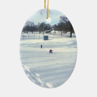 冬の季節 セラミックオーナメント