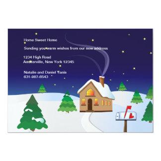 冬の家の移動発表 12.7 X 17.8 インビテーションカード