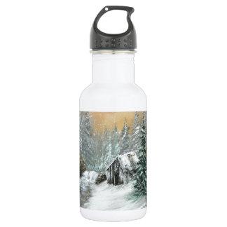冬の小屋のデザイン ウォーターボトル