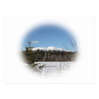 冬の山Katahdin はがき