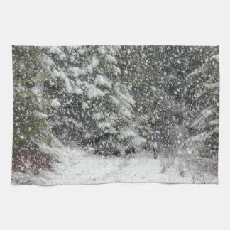 冬の嵐 キッチンタオル