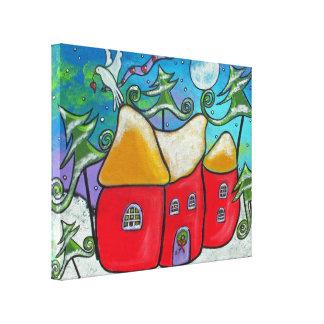 冬の平和ギャラリーのキャンバスプリント キャンバスプリント