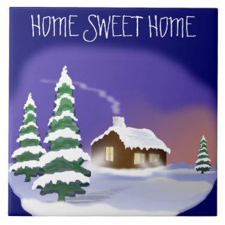 冬の引っ越し祝いパーティー: Snowyの家の甘い家 タイル