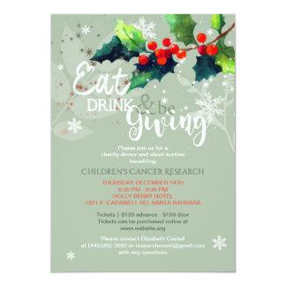 冬の慈善の夕食|の静かなオークションの招待状 12.7 X 17.8 インビテーションカード