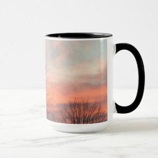 冬の日の出のマグ マグカップ