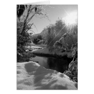 冬の日曜日のメッセージカード、中ブランク カード