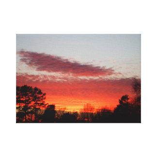 冬の日没の包まれたなキャンバス キャンバスプリント
