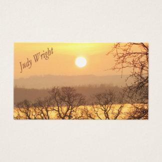 冬の日没の名刺 名刺