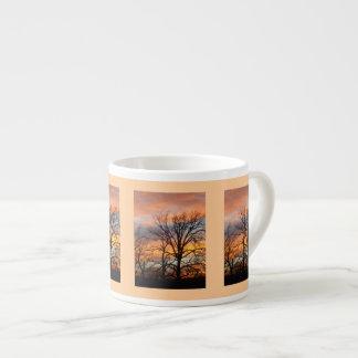 冬の日没1のエスプレッソのマグ エスプレッソカップ