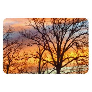 冬の日没1の磁石 マグネット
