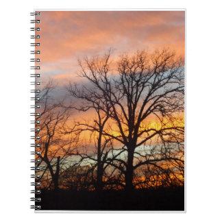 冬の日没1 ノートブック