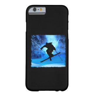 冬の景色およびフリースタイルのスキーヤー BARELY THERE iPhone 6 ケース