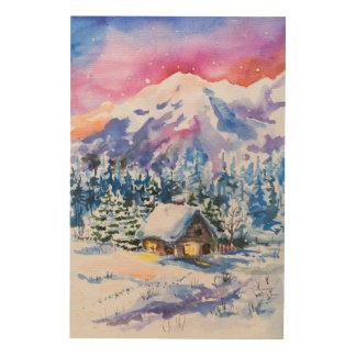 冬の景色 ウッドウォールアート