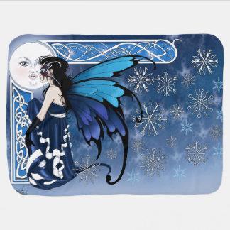 冬の月の妖精 ベビー ブランケット