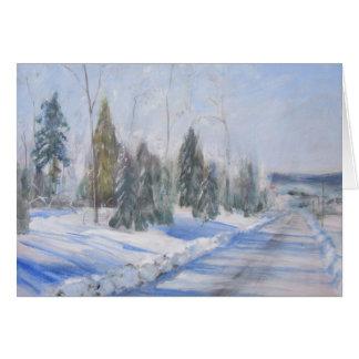 冬の朝の挨拶状 カード