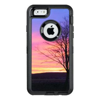 冬の朝の日の出 オッターボックスディフェンダーiPhoneケース