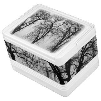 冬の木のシルエット 缶クーラー
