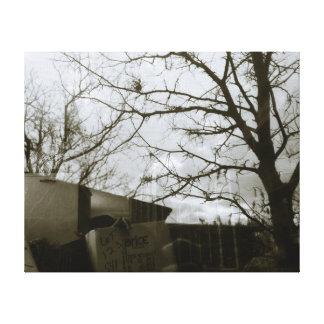 冬の木の反射のギャラリーのキャンバスプリント キャンバスプリント
